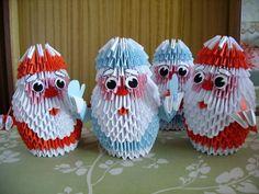 Gallery.ru / Дед Морозы - Модульное оригами - valentina76