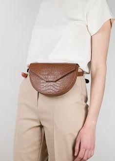 Brown Croc Leather Handbag & Belt Bag – The Frankie Shop
