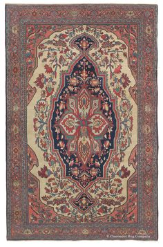FERAHAN SAROUK - West Central Persian 4ft 5in x 6ft 7in 3rd Quarter, 19th Century