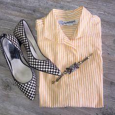 DIANA VON FURSTENBURG Striped Blouse Must have in any confident woman's closet! Diane von Furstenberg Tops