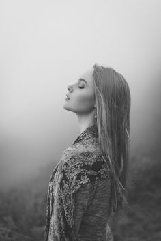 Natural outdoor portraits with megan bea tiernan in mist, fog forest in killiney hill 0004