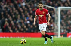 Michael Carrick of Manchester United in action during the Barclays Premier League match between Manchester United and Hull City at Old Trafford on November 29, 2014 in Manchester, England