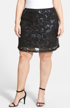 Dantelle Sequin Short Skirt (Plus Size) available at #Nordstrom