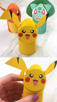 These Pokemon Easter eggs are a fun way for kids to decorate eggs! There's no dying required; just paint the eggs and attach these free printables to the eggs. Children will love them! decorating videos Easter Egg Decorating For Kids Animal Crafts For Kids, Fun Crafts For Kids, Diy For Kids, Kids Fun, Preschool Crafts, Easter Egg Crafts, Easter Art, Pokemon Easter Eggs, Pokemon Craft