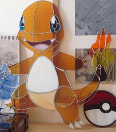 Being a huge Pokemon fan The Stained Glass Geek just had to create this Charmander. He is on a quest to create all Pokemon in Stained glass. You can help him by donating small amounts of money for each project on his Patreon account! Let this be the start of a whole series of Pokemon inspired Stained Glass. Gotta Catch Em All!