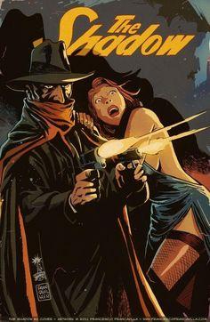 Cover for The Shadow series) [Dynamic Forces Exclusive Francesco Francavilla Cover] Comic Book Characters, Comic Character, Comic Books Art, Comic Art, Pulp Fiction Art, Pulp Art, Arte Nerd, Superhero Stories, Graphic Novels