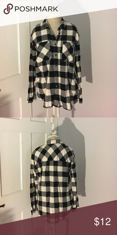 Black and white flannel Black and white box flannel. Forever 21 Tops Button Down Shirts