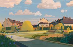 """Team Great Britain"" by Colin Bigelow Gig Poster, Environment Concept Art, Environment Design, Bg Design, Cover Design, Graphic Design, Guache, Animation Background, Visual Development"