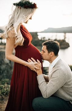Romantic Red Maternity Photos in Portland - Inspired by This https://www.amazon.co.uk/Baby-Car-Mirror-Shatterproof-Installation/dp/B06XHG6SSY