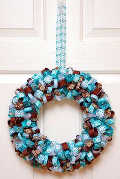 Different Ribbon Wreath