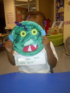 go away big green scary moster masks