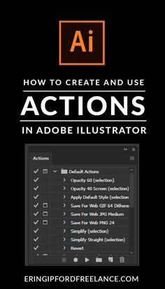Knowing how to use and create actions inside Adobe Illustrator can help streamline those repetitive, time consuming tasks that you have to do over and over again. I'll show you how to create your own actions and how to use the existing default actions.