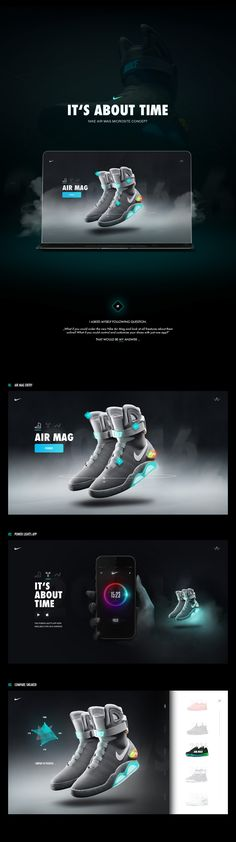 Nike Air Mag - Microsite & App ConceptI asked myself following question…