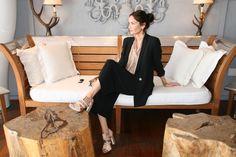 Falda pantalón de Zara, camisa de American Vintage para Cool the Sack, chaqueta de Mango y sandalias de Rachel Roy
