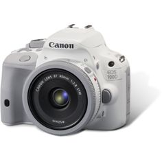 Canon EOS 100D 18.0 MP Digital SLR Camera White with 40mm STM Lens Kit