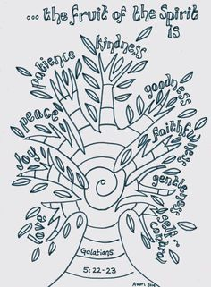 10 free printable coloring sheets based on the Fruit of the Spirit ...