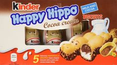 German cookies that are shaped like hippos and have a milk and cocoa cream filling.