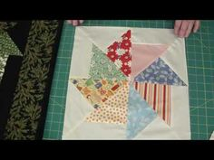 quilt tutorial! Stack and whack using turnovers.