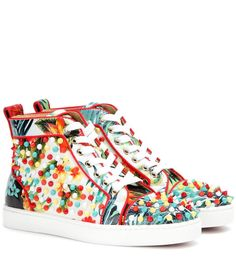 louboutin studded mens shoes - christian louboutin women\u0026#39;s gondolastrass orlato sneakers size ...
