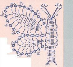 MUCHAS MARIPOSAS PARA HACER Filet Crochet, Crochet Stitches Chart, Crochet Motifs, Crochet Diagram, Afghan Crochet Patterns, Crochet Doilies, Crochet Flowers, Knit Crochet, Irish Crochet Tutorial