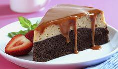 Pastel imposible con brownie