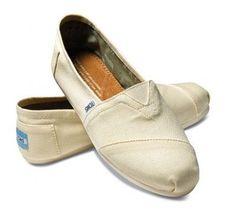 Khaki Toms Canvas Flat Shoes