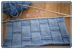 Punto vimini ai ferri con schema e spiegazioni   Giri di Maglia Baby Knitting Patterns, Knitting Designs, Harris Tweed, Diy Crochet, Lana, Knitted Hats, Free Pattern, Stitch, Sewing