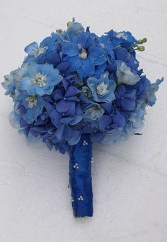delphinium AND hydrangea :) The Flower Company: September 2010 Bridal Bouquet Blue, Bridesmaid Bouquet, Wedding Bouquets, Wedding Flowers, Blue Bridal, Blue Delphinium, Blue Hydrangea, Delphiniums, Blue Wedding