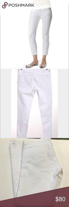 White Jbrand jeans Jbrand style 935 white denim . Gently worn. J Brand Pants Ankle & Cropped