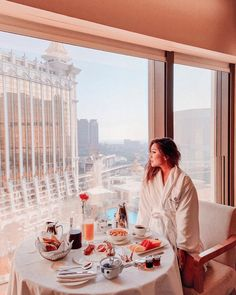 bychloeseeMornings are always better with a view. 😍 Breakfast made in the most gorgeous hotel @hotelokuramacau! I was amazed by their hospitality, quality of service and food + the breathtaking views within the grand resort. 🏨💕 I'm still in a dream. 😌 ⠀⠀⠀⠀⠀⠀⠀⠀⠀  ___________________________  📷 : @ashyi  👗: @hotelokuramacau robe Service Quality, I Am Amazing, Hotels And Resorts, Hospitality, Wellness, Luxury, Breakfast, How To Make, Instagram