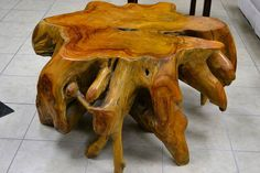 Unique Coffee Table Made from a Re-Claimed Teak Root! Wow!