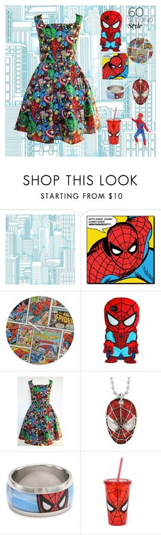 """spiderman is great//"" by tothesunrise ❤ liked on Polyvore featuring York Wallcoverings, Wolverine and Marvel Comics"