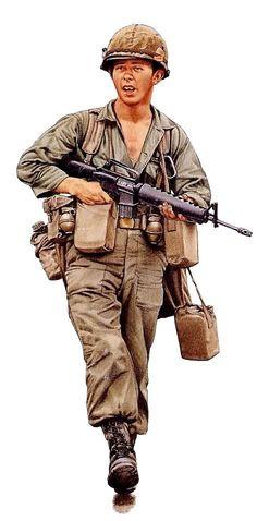 1st Air Cavalry Trooper in NAM