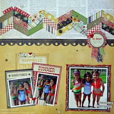 Bits Of Summer Paper - Summer Fresh - Simple Stories - Google Search