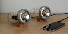 Speakers made from jars... Sweeeeet~ I wonder how they sound though...