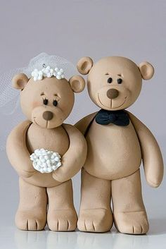 Teddy Bear Bride Groom Lovingly Bringing Smiles To The Faces Of Wedding Guests