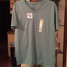 Brand New Mint Green t shirt V Neck t shirt brand new Fruit of the loom Tops Tees - Short Sleeve