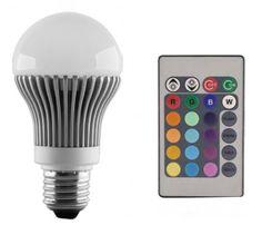 Bombilla de LED Colores con mando a distancia #bombillas #filamento #rustico #retro #vintage #decoracion #interiorismo #iluminacion #lamparas #led