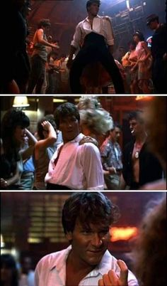 Patrick Swayze as Johnny castle in Dirty Dancing 80s Movies, Great Movies, Film Movie, Dawn Movie, Iconic Movies, Dirty Dancing, Jennifer Grey, Movies And Series, Patrick Swayze