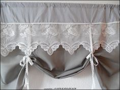 Shabby Chic Home Decor Large Curtains, Cute Curtains, Curtains With Blinds, French Curtains, Valances, Valance Curtains, Shabby Chic Kitchen Curtains, Shabby Chic Homes, Shabby Chic Decor