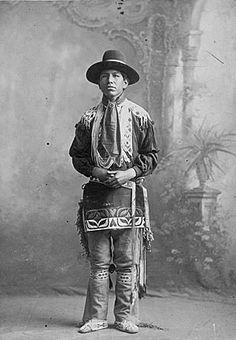 Photo of a Prairie Potawatomi - No name - No date - Photographer: Unknown. (Photoshopped b&w copy)