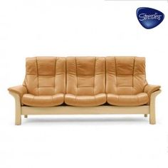 Shop for Stressless by Ekornes Stressless® Buckingham Highback 3 Seater Large, and other Living Room Sofas at Goods Home Furnishings in North Carolina.