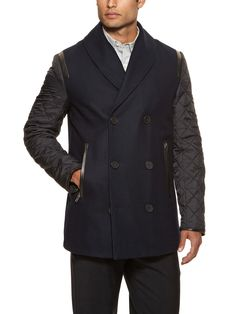 Wool Combo Jacket by Yigal Azrouël at Gilt