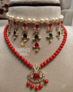 Jewelry Design Earrings, Gold Earrings Designs, Coral Jewelry, Bead Jewellery, Bracelet Designs, Necklace Designs, Gemstone Jewelry, Beaded Jewelry, Jewelery
