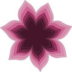 Silhouette Design Store: nested flower 2