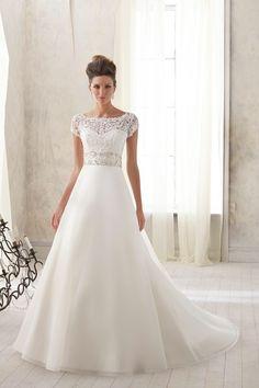 Tank Top Satin A Line Wedding Dress