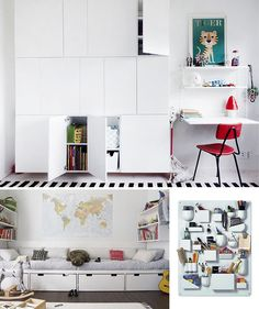 childrens bedroom play room storage ideas white room