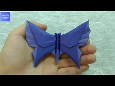 How to make an Origami Butterfly step-by-step Origami Mouse, Origami Yoda, Origami Star Box, Origami Dragon, Origami Fish, Origami Butterfly, Origami Stars, Butterfly Mobile, Origami Insects
