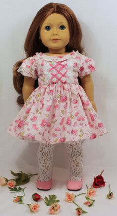 Saige feels just like a princess in her Valentines dress of hearts and roses. She cant wait to wear it out to dinner with her favorite Valentine;