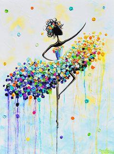 The Joyful Dancer Painting by Christine Krainock
